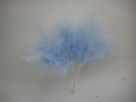 LARGE BUNCH OF MARABOU FEATHERS IN BABY BLUE