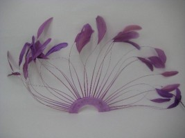FAN OF 30 FUCHSIA COQUE FEATHERS