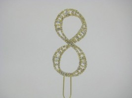 Gold Diamante Cake Toppers and Numbers