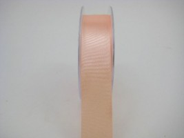 RS25AP 25 MM X 22.5 METRES SATIN RIBBON IN APRICOT - IF QUANTITY IS 5 ROLLS ONLY PAY £1.59