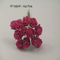 YF148HP  MINI TEA ROSE IN HOT PINK
