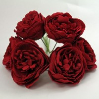 YF168RR  PEONY IN RUBY RED COLOURFAST FOAM