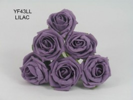 YF43LL- QUALITY COTTAGE ROSE IN LILAC COLOURFAST FOAM