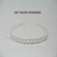 108T - Silver Headband