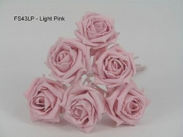 FS43LP  COTTAGE ROSES IN LIGHT PINK COLOURFAST FOAM