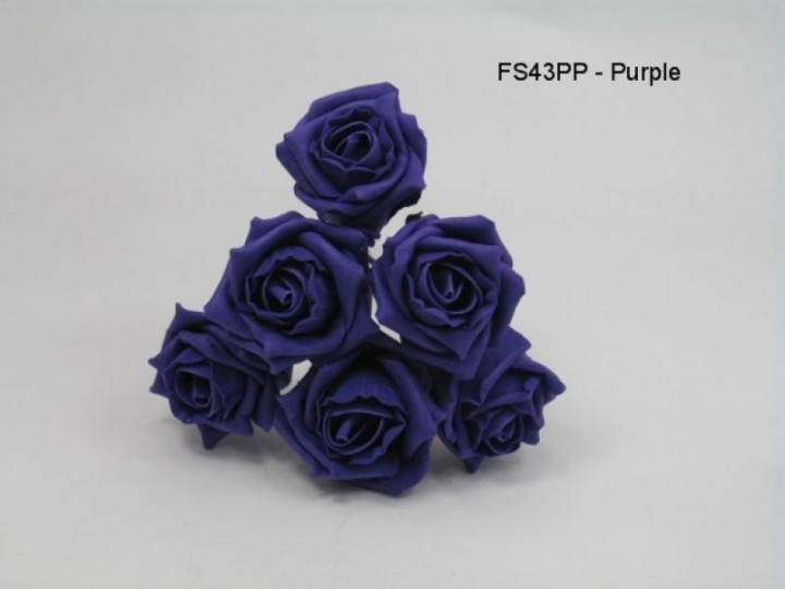 FS43PP  COTTAGE ROSE IN ALL PURPLE COLOURFAST FOAM