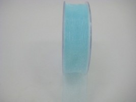 25 MM ORGANZA RIBBON IN AQUA