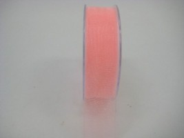 25 MM ORGANZA RIBBON IN PEACH