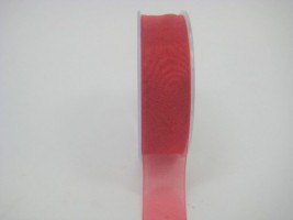25 MM ORGANZA RIBBON IN RED