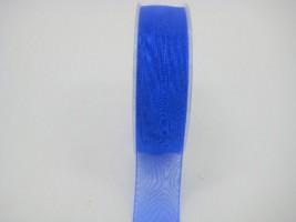 25 MM ORGANZA RIBBON IN ROYAL BLUE