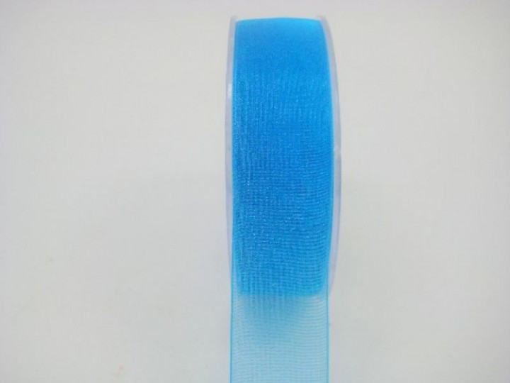 25 MM ORGANZA RIBBON IN TURQUOISE