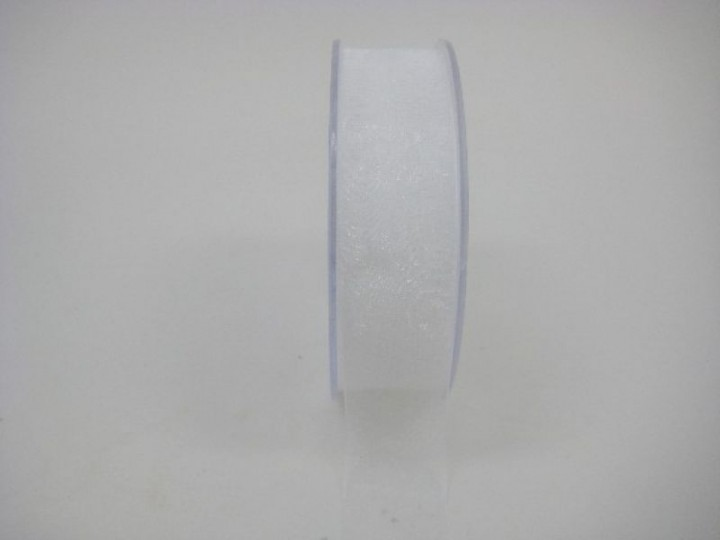 25 MM ORGANZA RIBBON IN WHITE