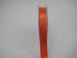 15MM X 22.5 METRES  SATIN RIBBON IN ORANGE- IF QUANTITY IS MORE THAN 10 PAY £1.05 A ROLL