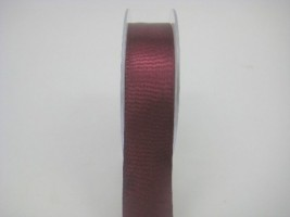 RS25BU 25 MM X 22.5 METRES SATIN RIBBON IN BURGANDY - IF QUANTITY IS MORE THAN 5 ROLLS PAY ONLY £1.59