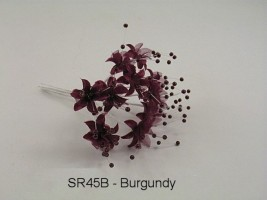 SR45B  BABIES BREATH BURGANDY