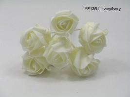 YF135II JUBILEE ROSEBUD IN IVORY/IVORY COLOURFAST FOAM