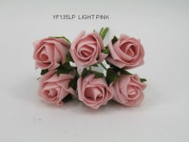 YF135LP  JUBILEE ROSEBUD IN LIGHT PINK COLOURFAST FOAM