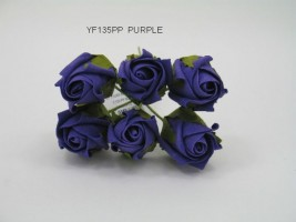 YF135PP  JUBILEE ROSE BUD IN PURPLE COLOURFAST FOAM