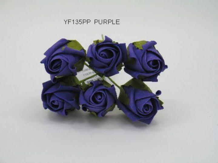 YF135PP  JUBILEE ROSE BUD IN PURPLE COLOURFAST FOAM