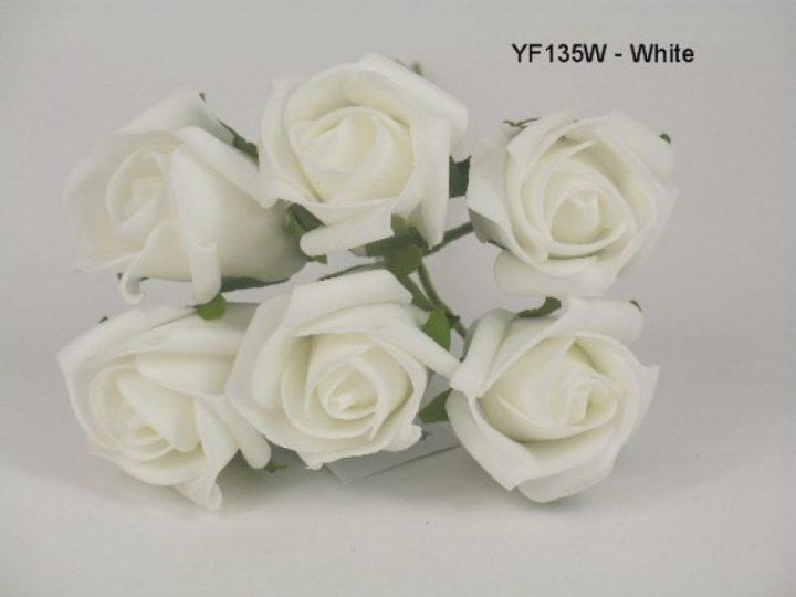 YF135 JUBILEE ROSE IN WHITE COLOURFAST FOAM