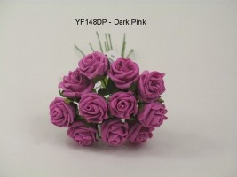 YF148DP  MINI TEA ROSE IN DARK PINK