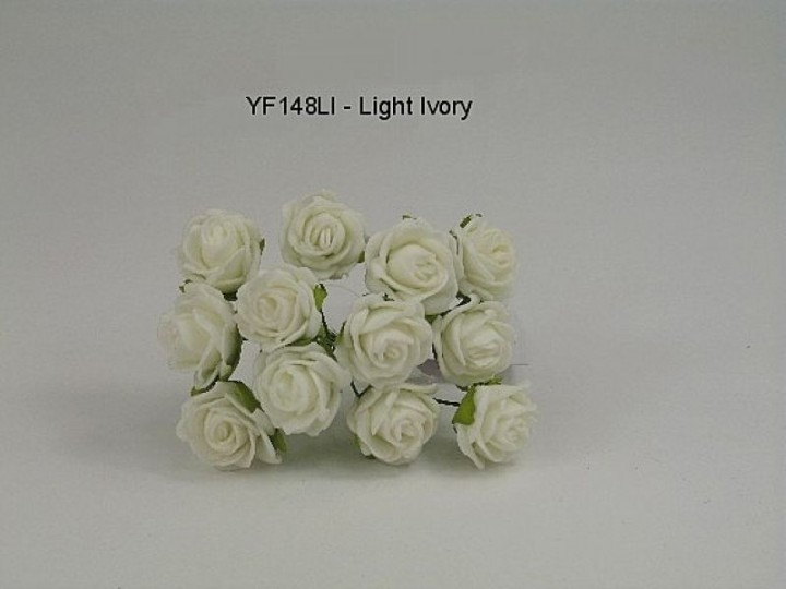YF148LI - MINI TEA ROSE IN  IVORY