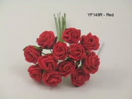 YF148R  MINI TEA ROSE IN RED
