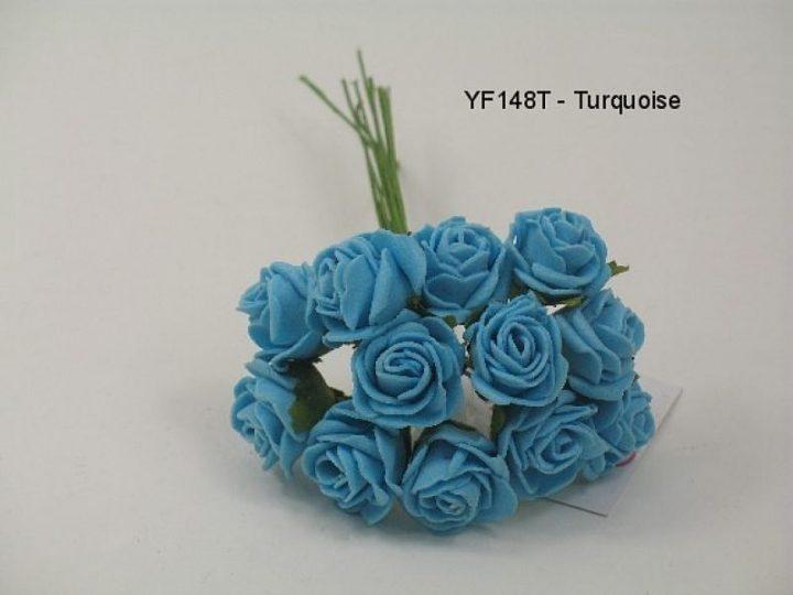 YF148T  MINI TEA ROSE IN TURQUOISE