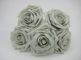 YF159S  OPEN ROSE IN SILVER COLOURFAST FOAM