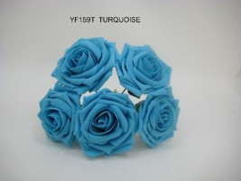 YF159T OPEN ROSE IN TURQUOISE COLOURFAST FOAM
