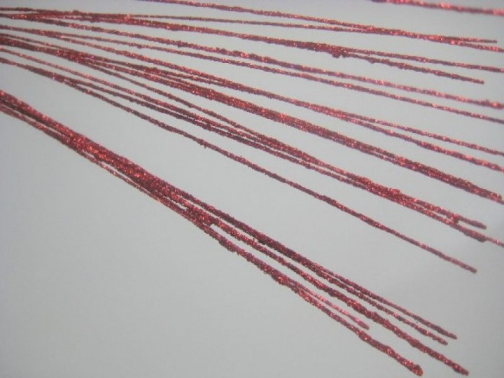 LONG STEM GLITTER BRANCH RED