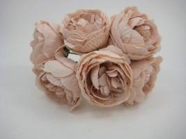 YF168VPH   PEONY IN VINTAGE PEACH COLOURFAST FOAM