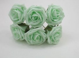 YF43LM 6 x 6 CM COTTAGE ROSE IN LIGHT MINT COLOURFAST FOAM