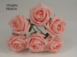 YF43PH  QUALITY COTTAGE ROSE IN PEACH COLOURFAST FOAM