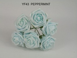 YF43PM QUALITY COTTAGE ROSE IN PEPPERMINT COLOURFAST FOAM
