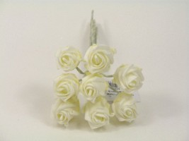 YF72II  ROSEBUDS IN ALL IVORY COLOURFAST FOAM 8 X 3 CM