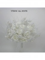 YF8WW  LARGE HAND TIED POSY IN WHITE